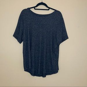 Old Navy Luxe tee in heathered grey pattern